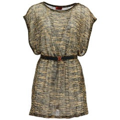 Missoni Mare Belted Crochet Knit Mini Dress IT 42 UK 10