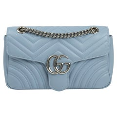 Gucci, Marmont in blue leather