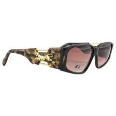 """New Vintage Look Riviera """" PALACE """" Black & Tortoise Sunglasses France"""
