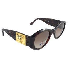 "New Vintage Look Riviera ""  Paris "" Sleek Dark Tortoise Sunglasses France"