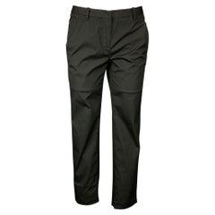 CoSTUME NATIONAL Size 4 Black Cotton Blend Narrow Leg Dress Pants