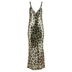 Haider Ackermann Leopard Print Silk Blend Maxi Dress Fr 36 UK 8