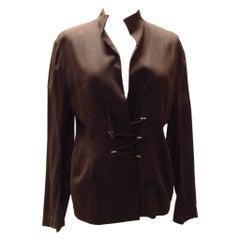 Y's Yohji Yamamoto Short Brown Lace Up Jacket