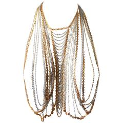 Trifari Gold and Silver Body Chain