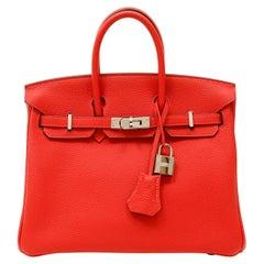 Hermès Lipstick Red Togo 25 cm Birkin Bag