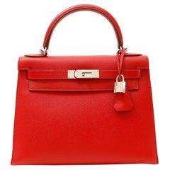 Hermès Lipstick Red Epsom 28 cm Kelly Bag