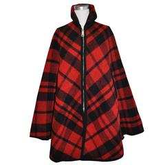 Pendleton Reversible Double-Faced Wool Plaid Poncho