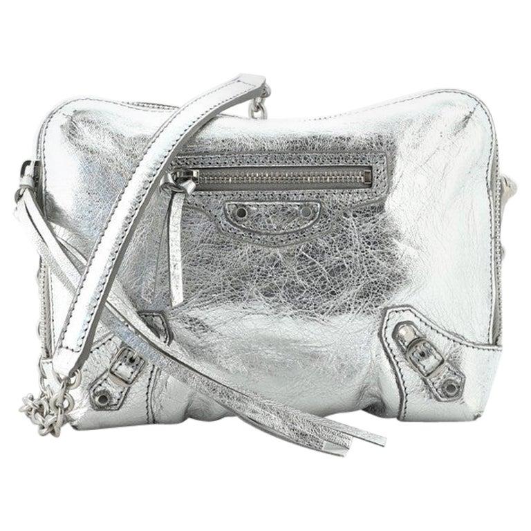 Balenciaga Classic Studs Chain Reporter Crossbody Bag Leather XS