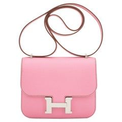 Hermes Bubblegum Pink Mini Constance 18cm Epsom Bag RARE Z Stamp, 2021