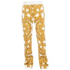 Versace Men's Chain Print Cotton Jogging Trousers