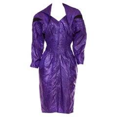 1980S Purple Nylon Parachute Dress
