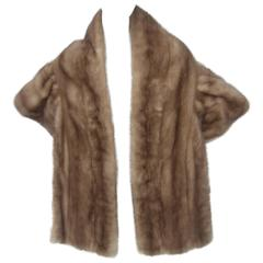 Opulent Autumn Haze Mink Fur Stole 1960s