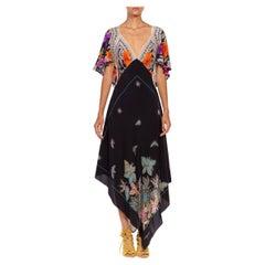 MORPHEW COLLECTION Black & Cream Multi Silk Twill Floral Print 3-Scarf Dress Ma