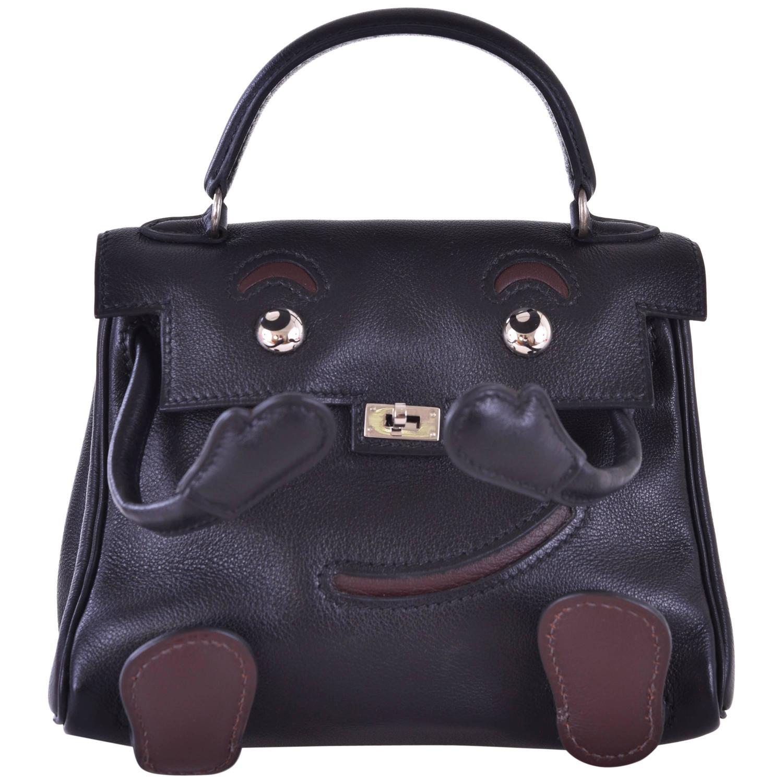 hermes messenger - Hermes Kelly Doll Bag Black Idole (Kelly Doll) Gulliver Black ...