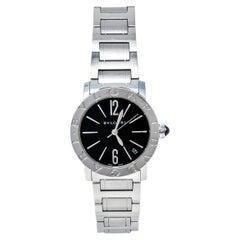 Bvlgari Black Stainless Steel Bvlgari 102072 Automatic Women's Wristwatch 33 mm