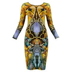 Iconic Alexander Mcqueen Plato's Atlantis Snake Print Dress 2009