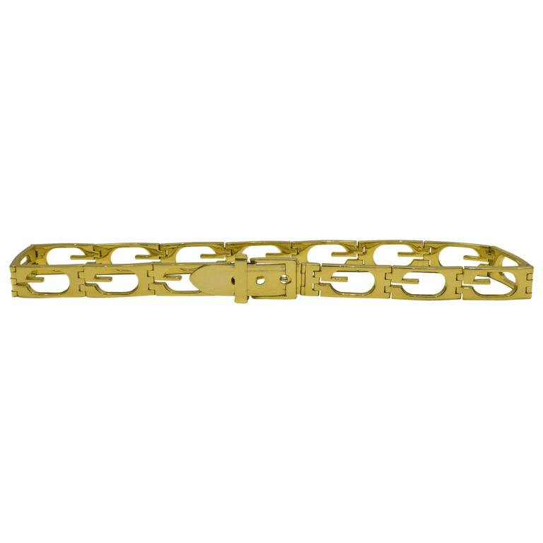 Gucci Goldplate G  Metal Belt