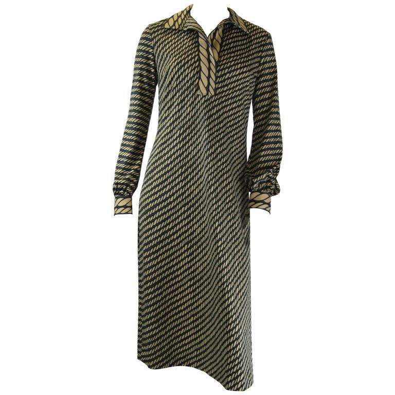 Roberta Di Camerino Trompe L'oeil Shirt Dress