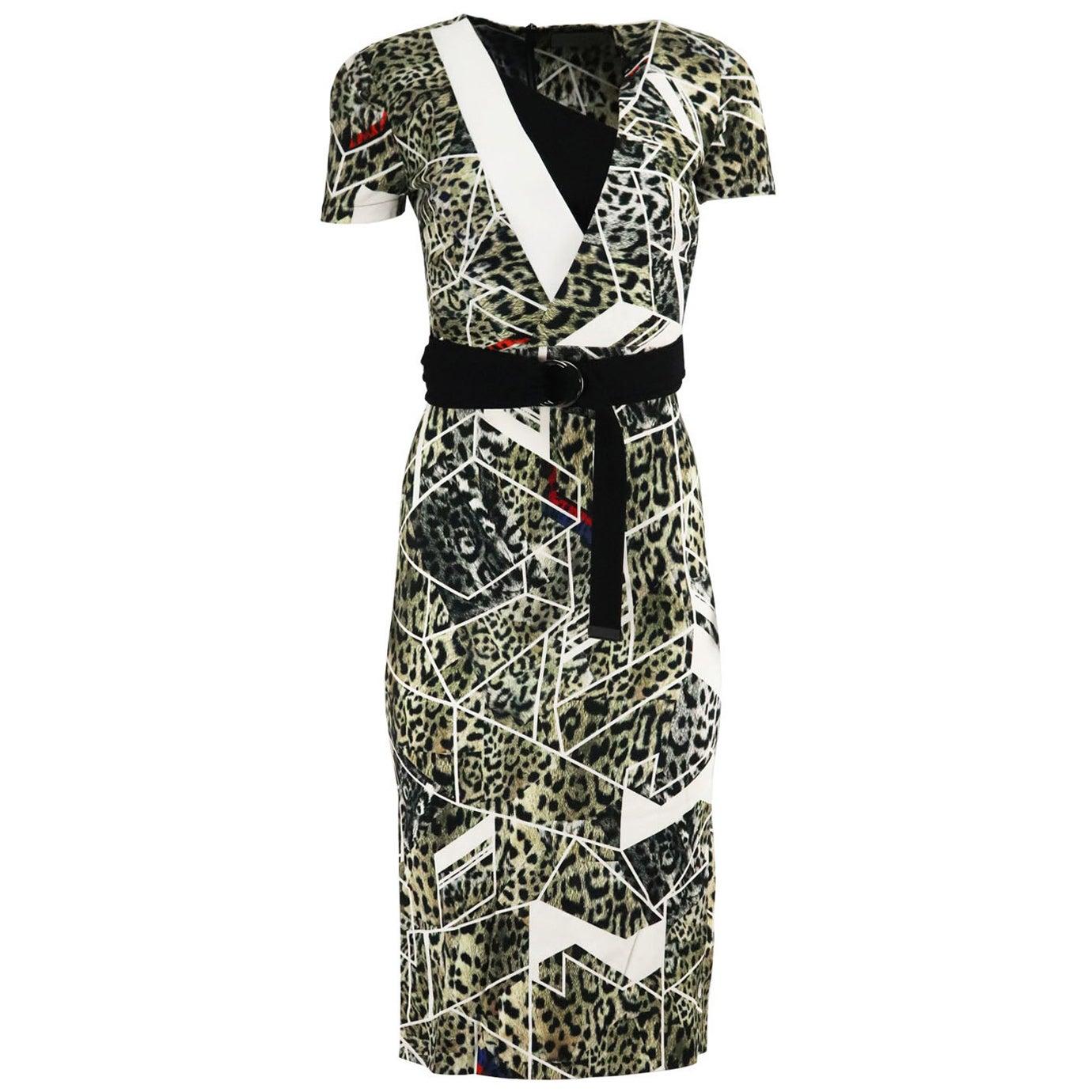 Preen By Thornton Bregazzi Wrap Effect Printed Jersey Dress