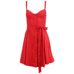 Milly Belted Cotton Blend Mini Dress US 10 UK 14