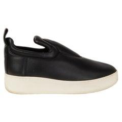 CELINE black calfskin Slip On Sneaker Shoes 38
