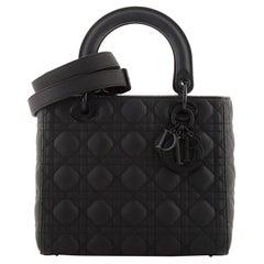 Christian Dior Ultra Matte Lady Dior Bag Cannage Quilt Calfskin Medium