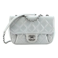 Chanel Pleated Chain Flap Bag Quilted Calfskin Medium