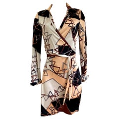 Flora Kung silk jersey mock wrap skirt dress