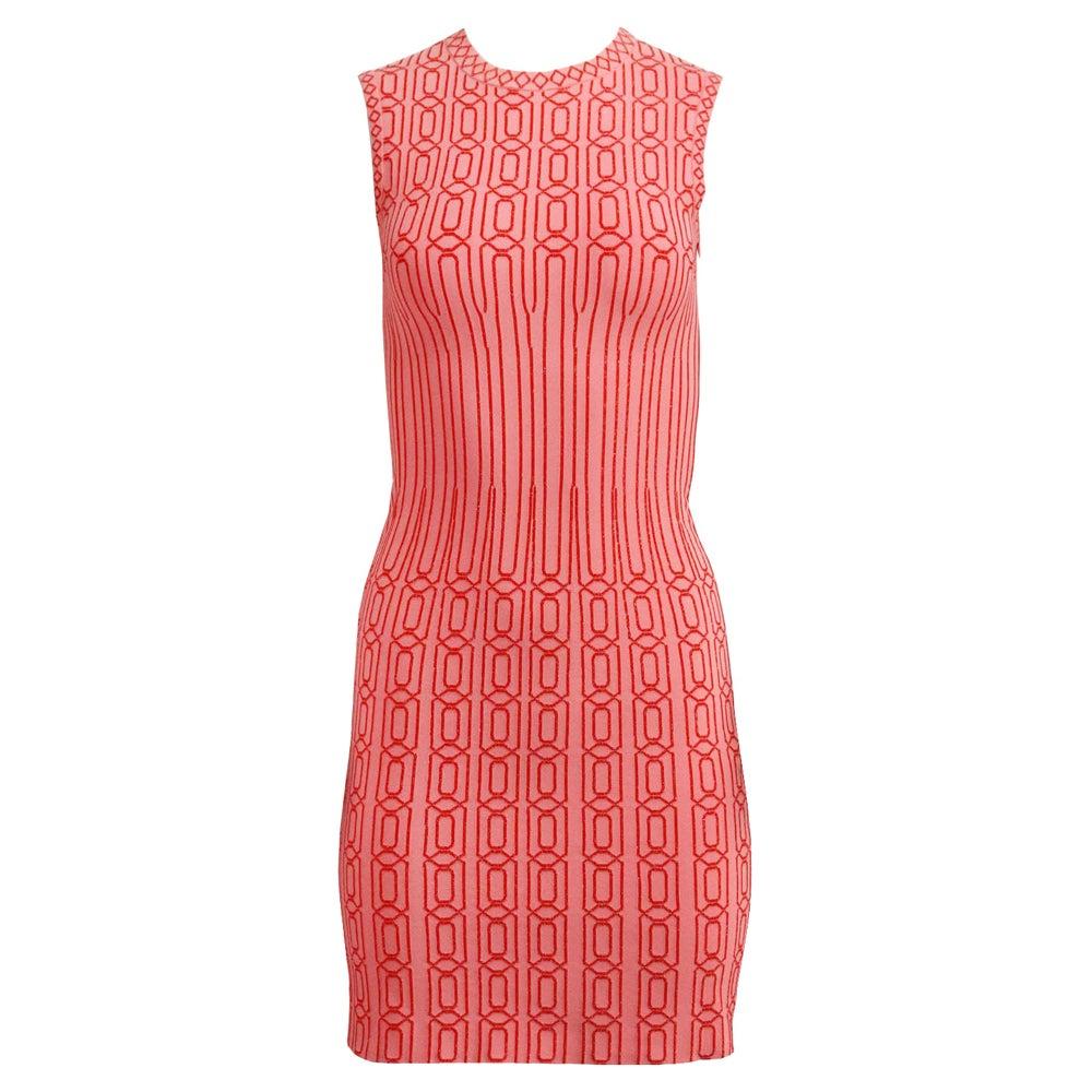 Azzedine Alaïa Metallic Jacquard Knit Mini Dress FR 36 UK 8