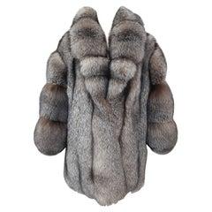 Brand new crystal fox fur coat size 20