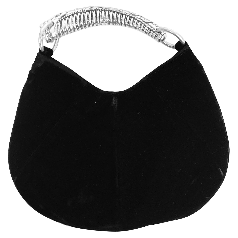 Yves Saint Laurent Black Velvet Mini Mombasa Handbag Tom Ford
