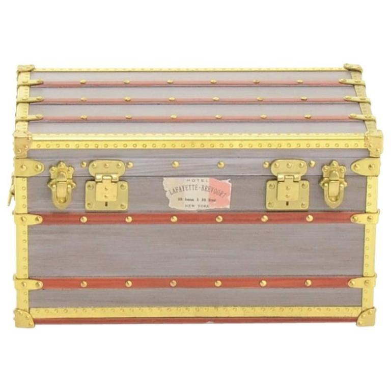 Louis Vuitton Limited Edition Malle Mini Trunk VIP Collectible Pill Jewelry Box  For Sale