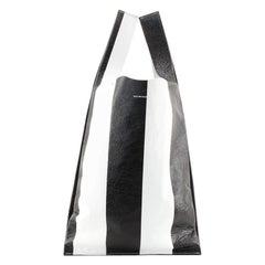 Balenciaga Supermarket Shopper Bag Striped Leather Small