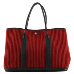 Hermes Garden Party Tote Ribbed Canvas and Leather 36