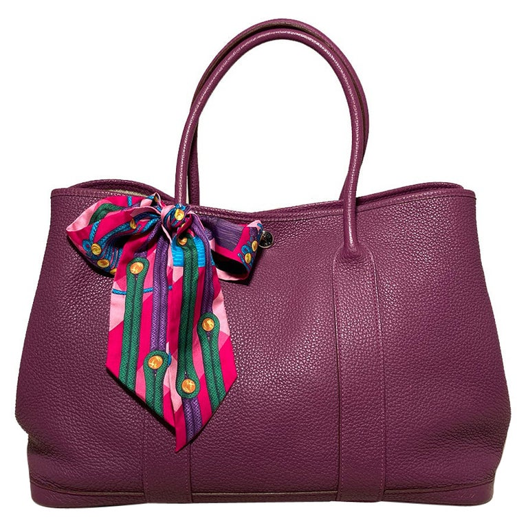 Hermes Purple Garden Party PM  For Sale