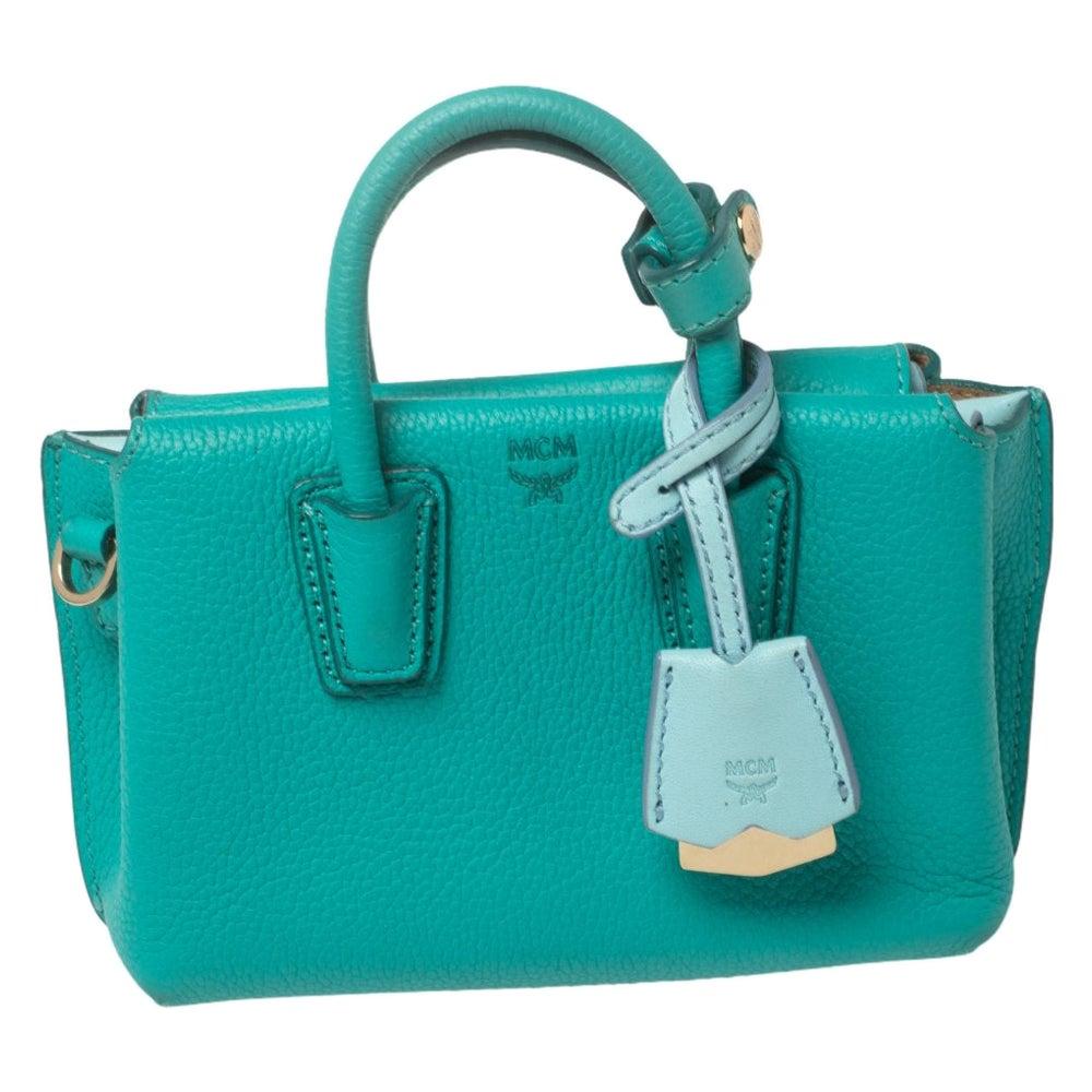 MCM Green Leather X Mini Milla Crossbody Bag