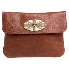 Mulberry Tan Leather Union Jack Clutch