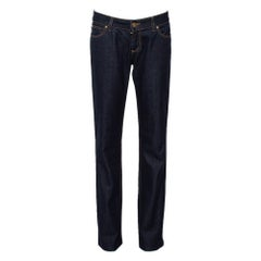 Gucci Navy Blue Denim Straight Leg Jeans S