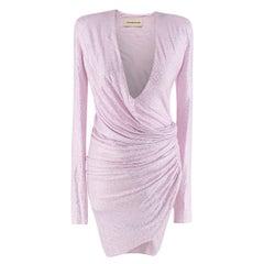 Alexandre Vauthier crystal-embellished draped mini dress - Us size 2