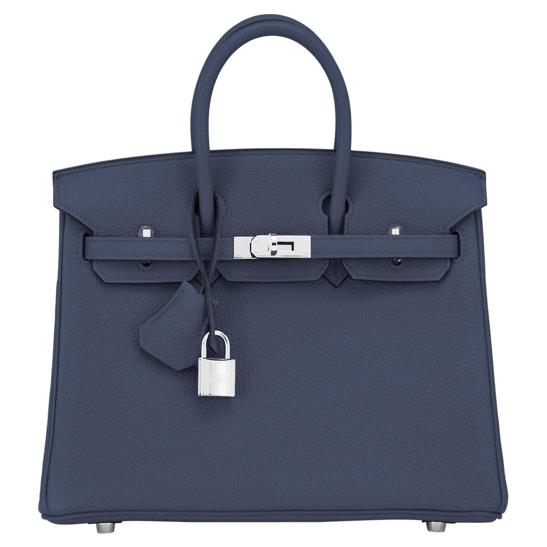Hermes Birkin 25cm Blue Nuit Navy Bag Z Stamp, 2021
