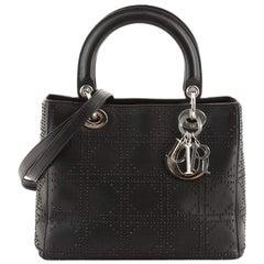 Christian Dior Lady Dior Bag Cannage Studded Leather Medium