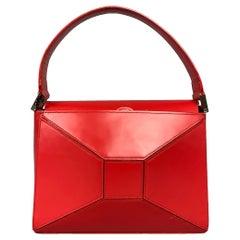 JUNYA WATANABE Red Leather Silver Tone Hardware Handbag