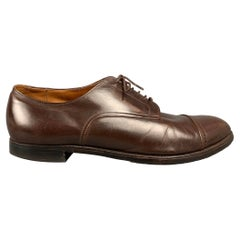 ALDEN 564 Size 14 Brown Leather Cap Toe Lace Up Shoes