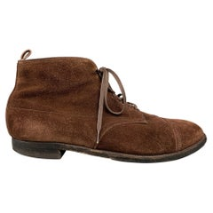 ALDEN 4196 Size 15 Brown Suede Leather Lace Up Boots