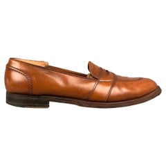 ALDEN 685 Size 15 Tan Leather Cap Toe Penny Loafers