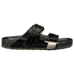 RICK OWENS x BIRKENSTOCK Arizona Size 12 Black Leather Sandals