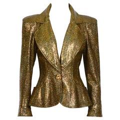 Christian Lacroix vintage runway spring summer 1995 gold sparkly jacket