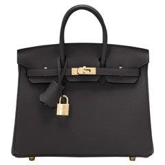 Hermes Birkin 25cm Black Togo Gold Hardware Bag Z Stamp, 2021