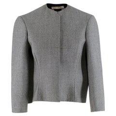 Balenciaga Wool Houndstooth Structured Crop Jacket - Us size 6
