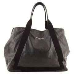Balenciaga Navy Cabas Leather Medium